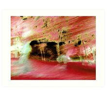 Red Wind Over farm Art Print