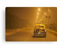3AM Taxi Ride Canvas Print