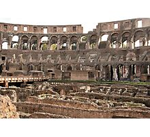 Inside The Coliseum Photographic Print