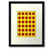 Red pills pattern Framed Print