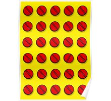 Red pills pattern Poster