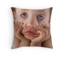 Sick of photos today mum! Throw Pillow