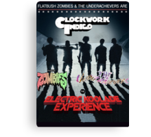 FLATBUSH ZOMBIES UNDERACHIEVERS CLOCKWORK INDIGO Canvas Print