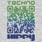 QR Code Technohippy Logo V2 by Technohippy