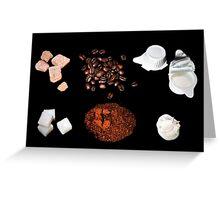 coffee ingredient Greeting Card
