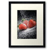 Strawberries and Sugar Framed Print