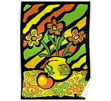 vivid vase with flowers Poster