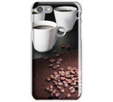 three coffee cups iPhone Case/Skin