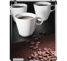 three coffee cups iPad Case/Skin