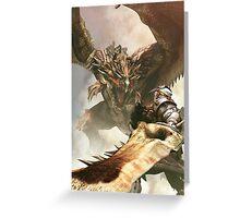 Monster Hunter Dragon  Greeting Card