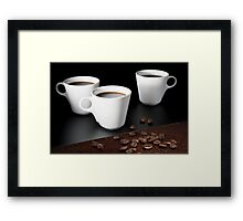 coffee cup Framed Print