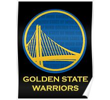 WARRIORS - GOLDEN STATE OF MIND (GOLD TEXT) Poster