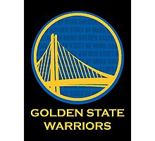 WARRIORS - GOLDEN STATE OF MIND (GOLD TEXT) Photographic Print