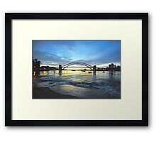 Glory - Moods Of A City - The HDR SeriesSydney Harbour, Sydney Australia Framed Print