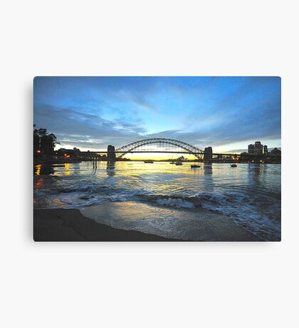 Glory - Moods Of A City - The HDR SeriesSydney Harbour, Sydney Australia Canvas Print