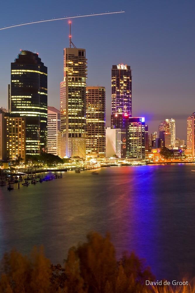 Brisbane City Reflections by David de Groot