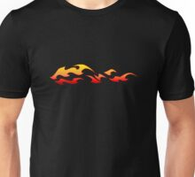 flaming decal Unisex T-Shirt