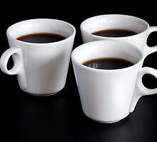 three coffee cups  by bashta