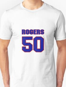 National football player Justin Rogers jersey 50 T-Shirt