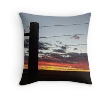 Gate at Sunset Throw Pillow