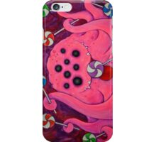 Sweet Tooth Sugar Baby, pink monster with lolly pops iPhone Case/Skin