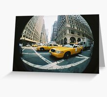 New York Cabs Greeting Card