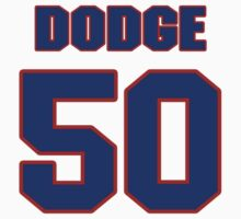 National football player Kirk Dodge jersey 50 by imsport