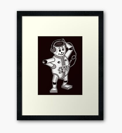 retro robot  Framed Print