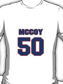 National football player Matt McCoy jersey 50 T-Shirt