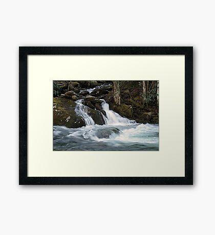 Mannis Branch Falls Framed Print