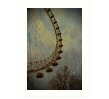 Vintage London Eye Art Print