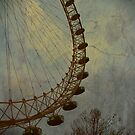 Vintage London Eye by Kalena Chappell