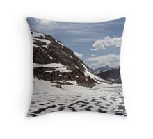 The Slow and Subtle Unveiling of a Lake Throw Pillow