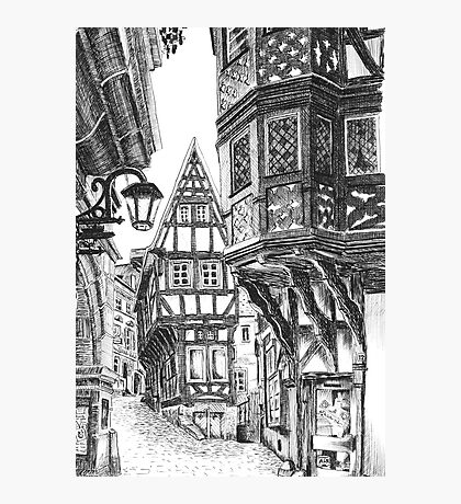 Medieval Townscape Photographic Print