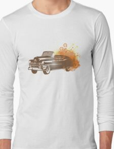 Brown Retro Car T-Shirt