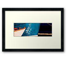 Blue bows Framed Print