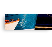 Blue bows Canvas Print