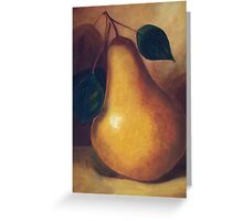 """""""Pear Study""""  SOLD Greeting Card"""