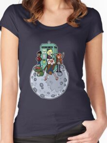 Adventure Time and Space Women's Fitted Scoop T-Shirt