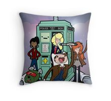 Adventure Time and Space Throw Pillow