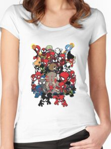 Spidey across time and space Women's Fitted Scoop T-Shirt