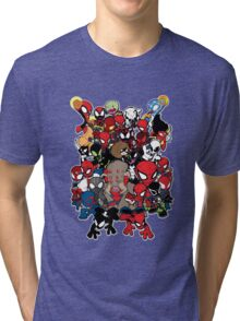 Spidey across time and space Tri-blend T-Shirt
