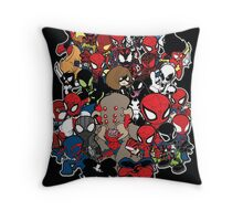 Spidey across time and space Throw Pillow