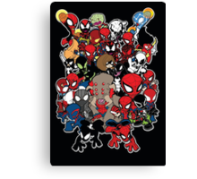 Spidey across time and space Canvas Print