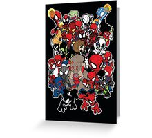 Spidey across time and space Greeting Card