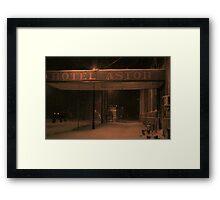 The Astor Hotel Framed Print