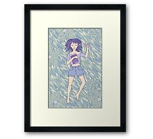 Young girl sleeping on the grass Framed Print