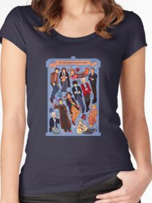 11 time lords inside 1 tardis Women's Fitted Scoop T-Shirt