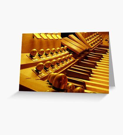 Organ Pedals Greeting Card