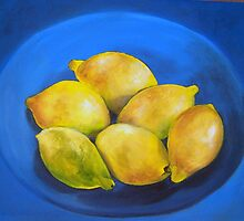 """Lemons on Blue"" by Susan Dehlinger"